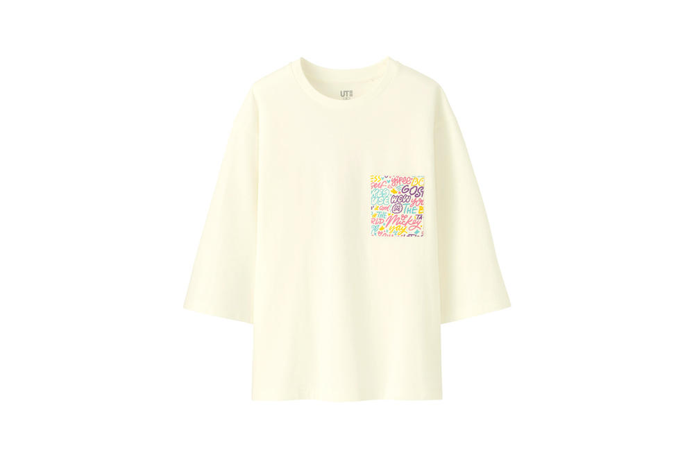 Love & Mickey Mouse Uniqlo UT T-Shirt Collection Cream Pink