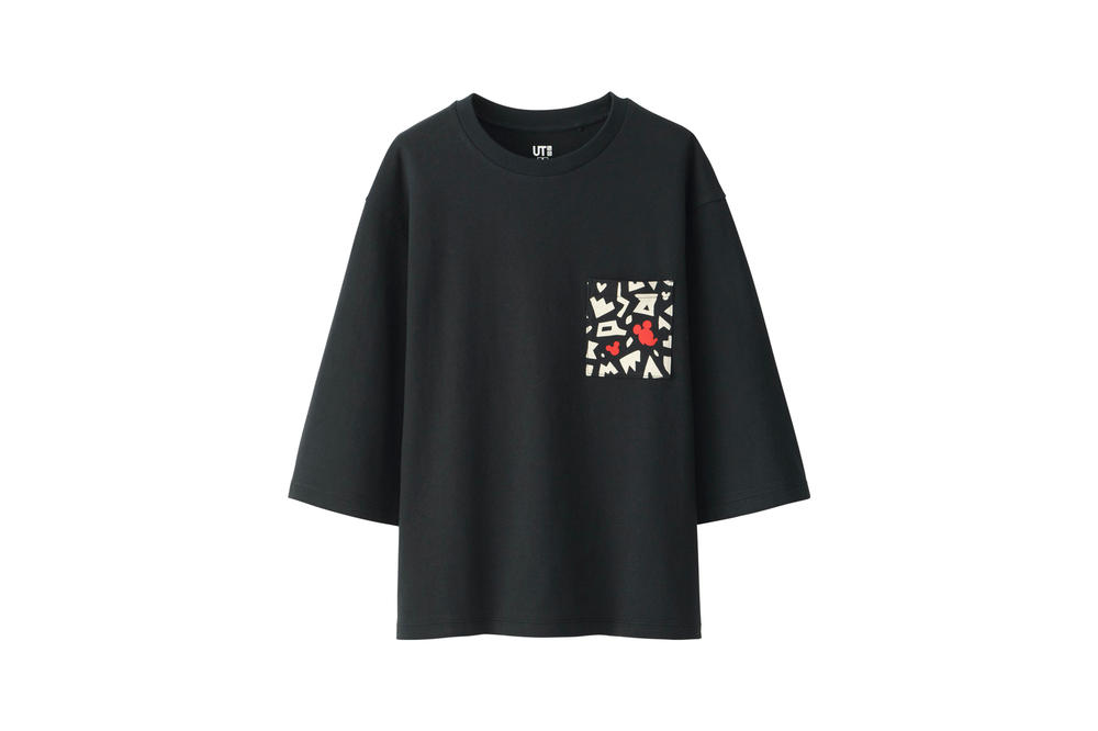 Love & Mickey Mouse Uniqlo UT T-Shirt Collection Black Red