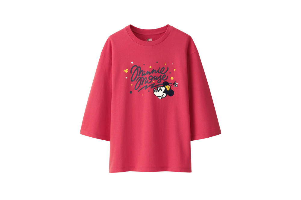 Love & Mickey Mouse Uniqlo UT T-Shirt Collection Dark Pink