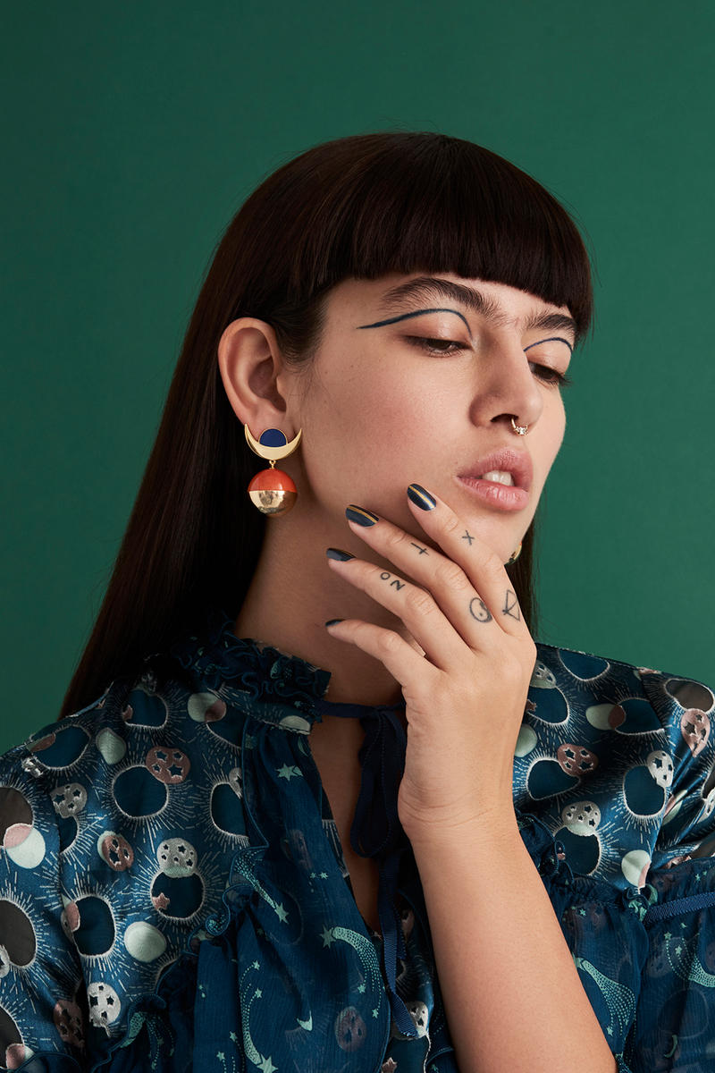 Milk Tooth London Sphere Earring Collection Cosmos Sun Ra Max Loeffler Tarot Cards Jewelry