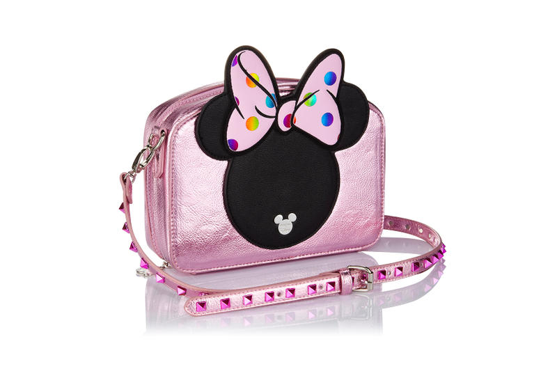 Minnie Mouse Spectrum Collections Makeup Brush Pink Bag Studs