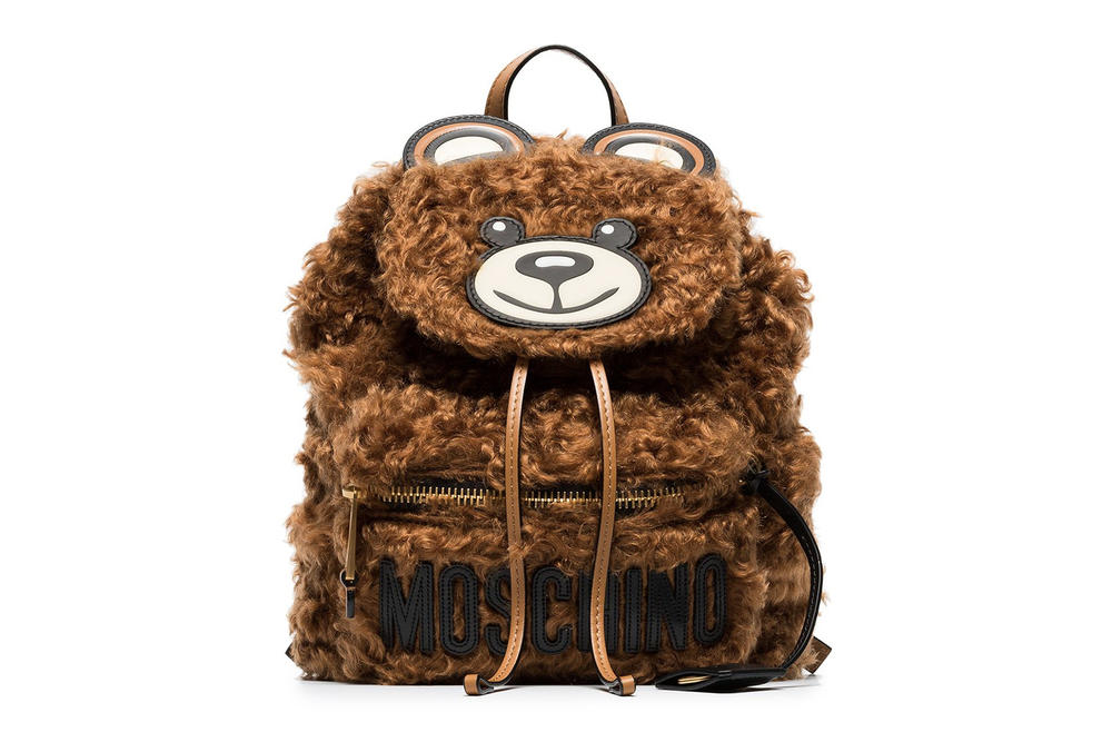 e358e096713f Moschino Brown Shearling Teddy Bear Backpack Rucksack