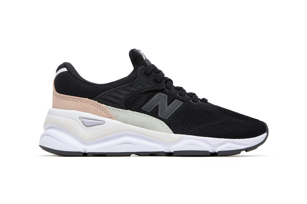 New Balance X90 Chunky Dad Sneaker Moonbeam Flat White Black