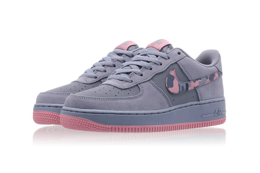 Nike Air Force 1 Elemental Pink Ashen Slate Purple Camo Swoosh