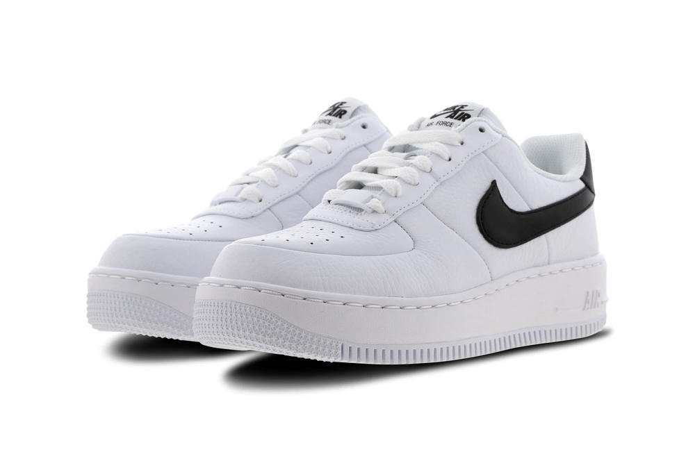 Nike Air Force 1 Upstep Monochrome Black & White Platform Sneakers