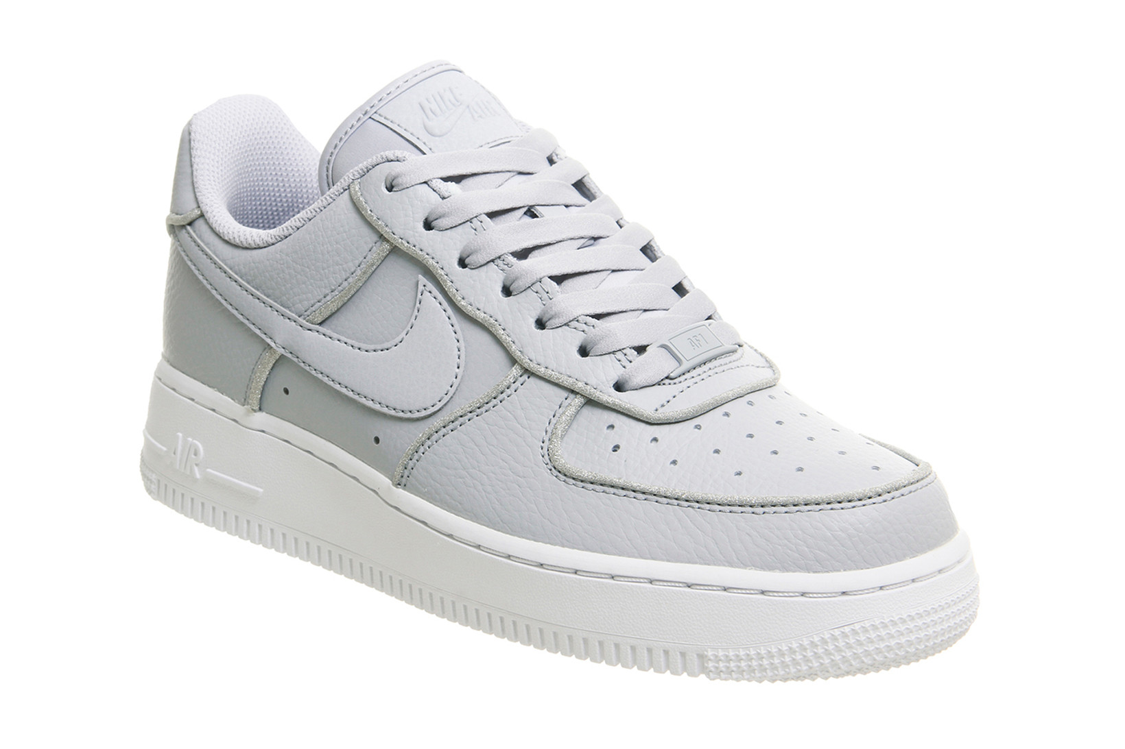 Nike Air Force 1 Wolf Grey With Silver