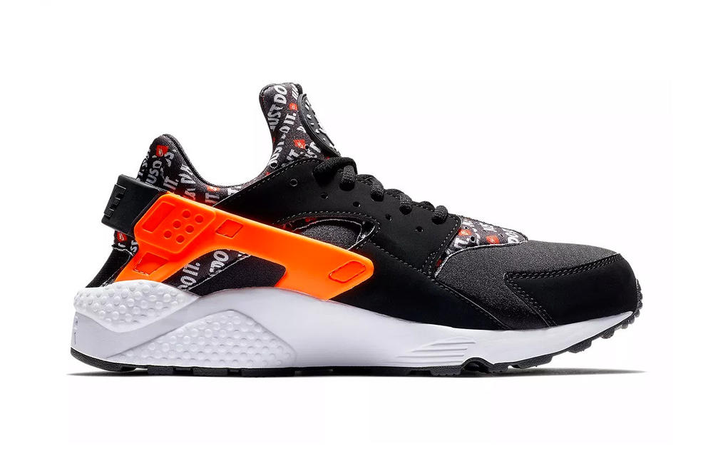 nike air huarache just do it slogan neoprene leather textile