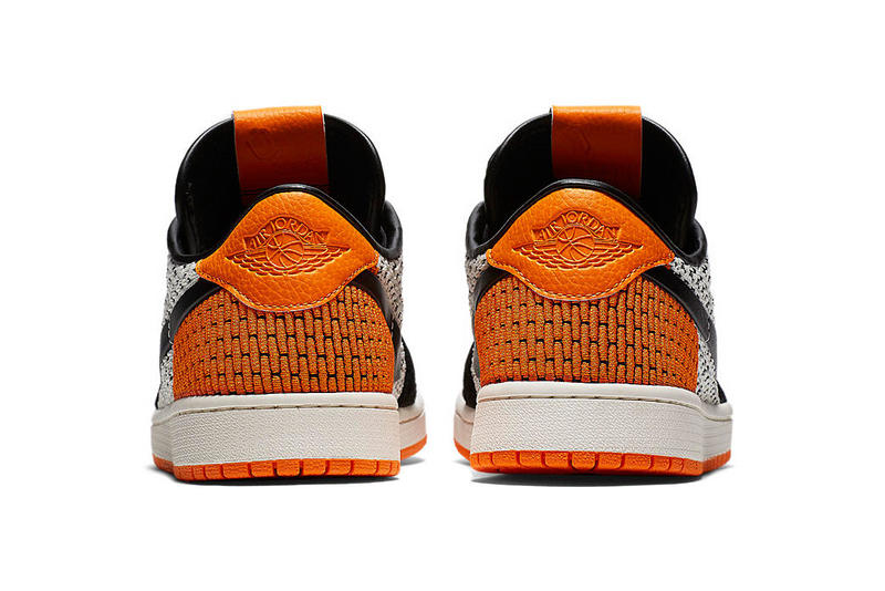 Nike Air Jordan 1 Shattered Backboard Flyknit Starfish Orange Sail Black Ladies Women's Sneakers