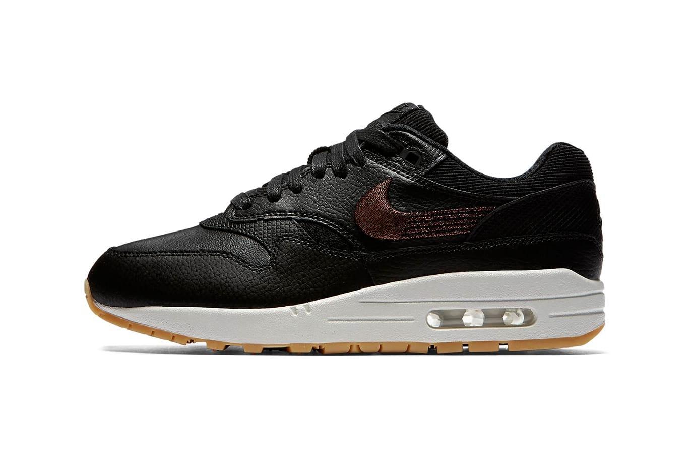 Nike Air Max 1 Black Leather \u0026 Bronze