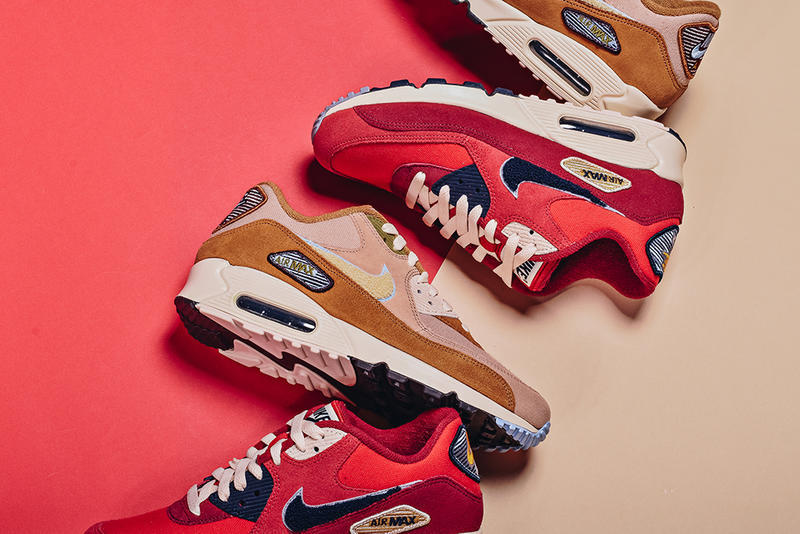 Nike Air Max 90 Premium SE Varsity Pack Muted Bronze University Red