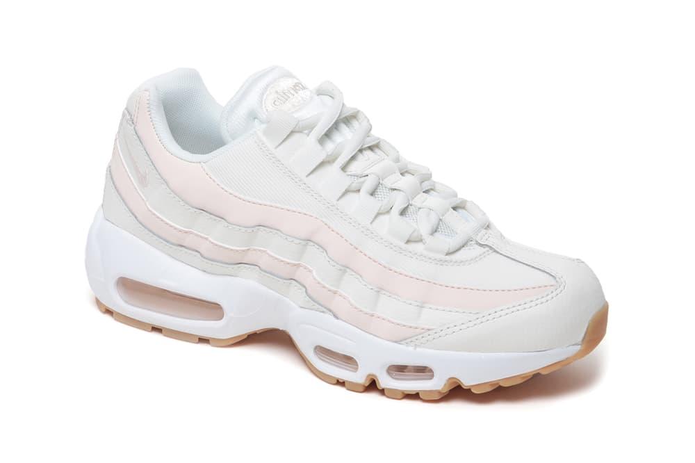 Nike Air Max 95 Pink White Stripe Beige Sneakers