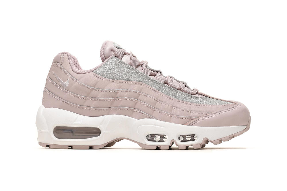 Nike Air Max 95 SE Particle Rose Pink Metallic Silver Glitter Women s  Sneakers e4f016a021ac
