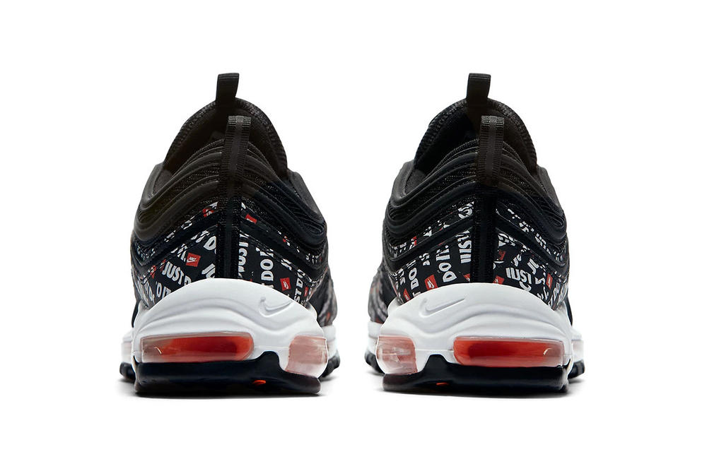 nike air max 97 just do it black slogan retro
