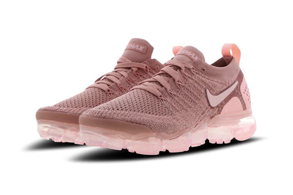 29d871435c62 Nike Air VaporMax Flyknit Rust Pink Rose Gold Women s Sneaker