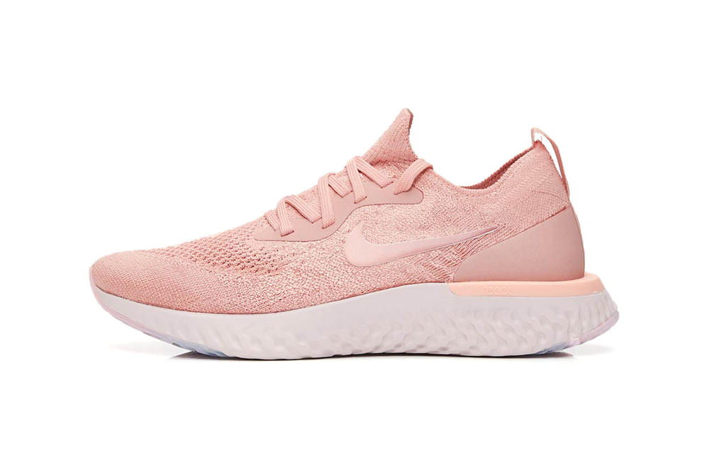 c96106bb8c80 Nike Epic React Flyknit Rust Pink Rose Gold Copper Women s Sneaker
