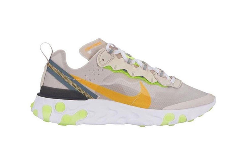 Nike React Element 87 2019 Colorway Tan Orange Green