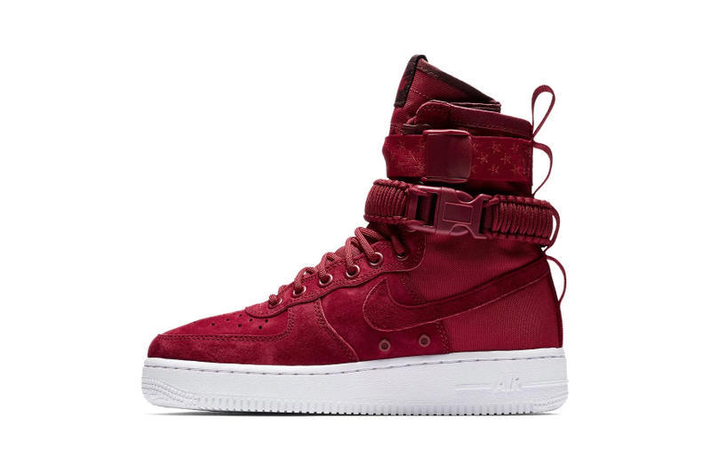 best authentic 9d0bd ade67 Nike SF-AF1 Muted Bronze Red Crush Star Print Strap Sneakers