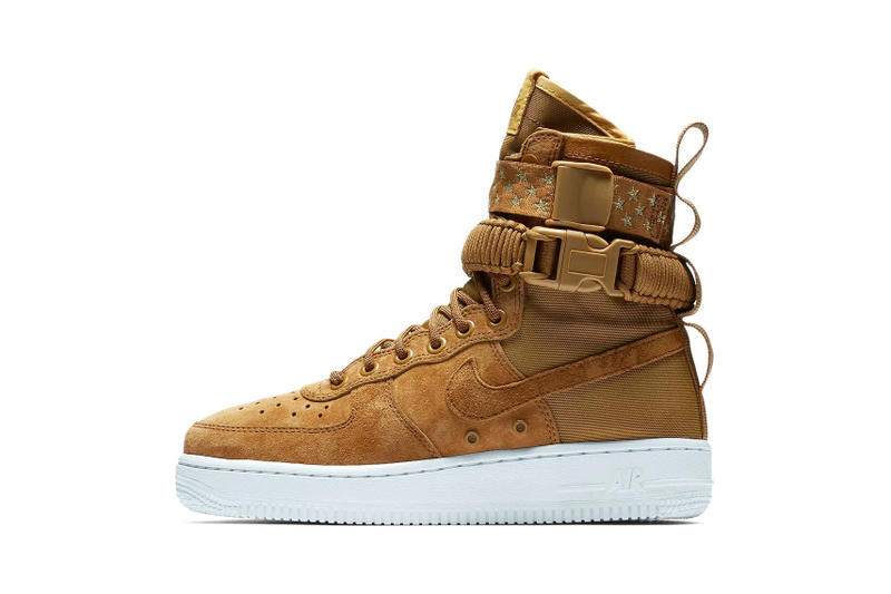 Nike SF-AF1 Muted Bronze Red Crush Star Print Strap Sneakers
