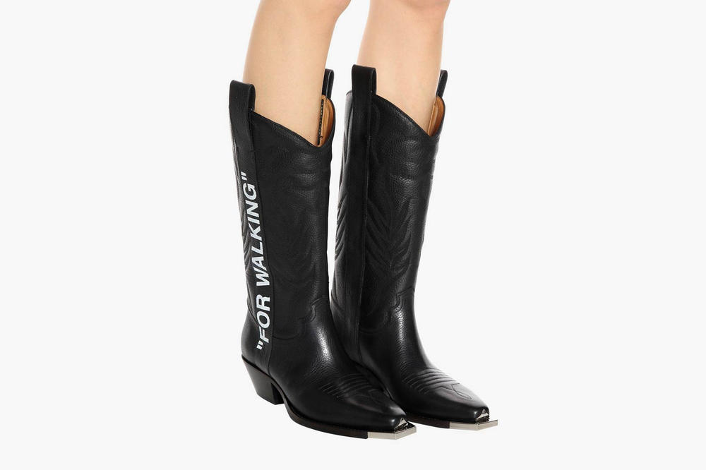 Off White FOR WALKING Cowboy Boots Black