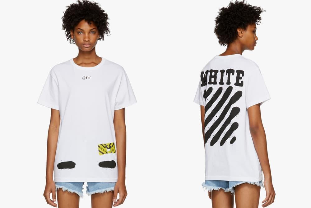 Off White Spray Paint T Shirt White