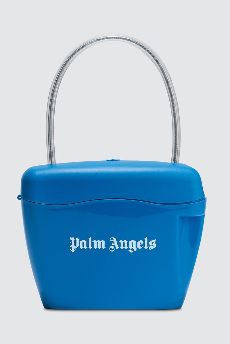 Palm Angels Plastic Padlock Bag Red Black White Yellow Blue Green Orange Handbag