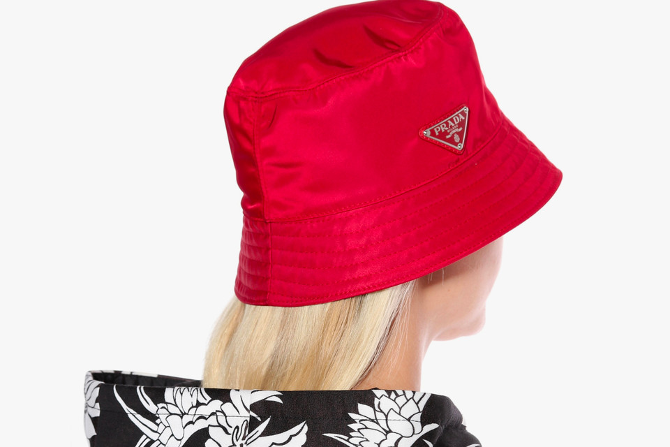 0e18f5c1ba368 Shop Prada s Red Bucket Hat on mytheresa.com