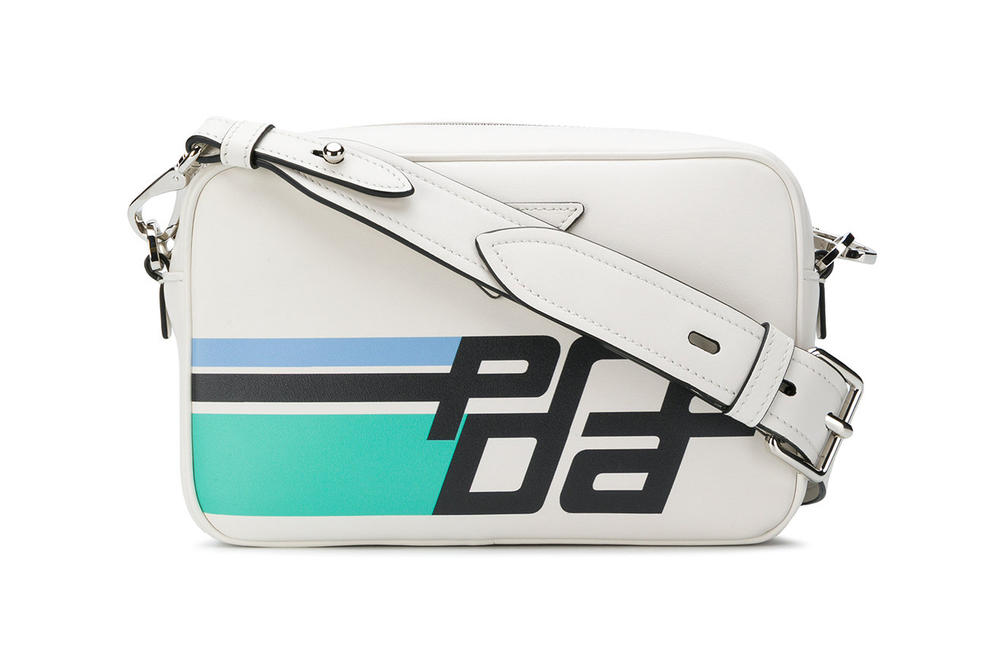 Prada Logo Camera Bag White