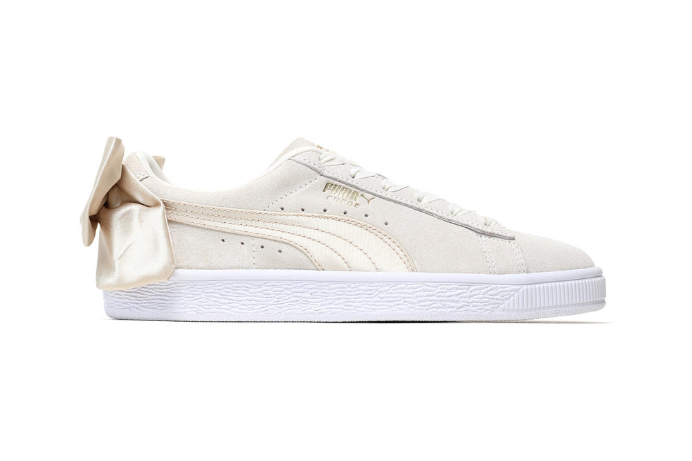 PUMA Suede Bow Varsity Marshmallow Women s Sneakers 1c6b05be9