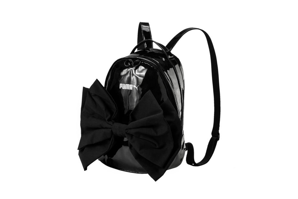 PUMA Bow Suede Backpack Black