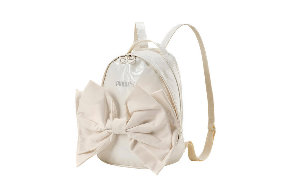 PUMA Bow Suede Backpack Whisper White