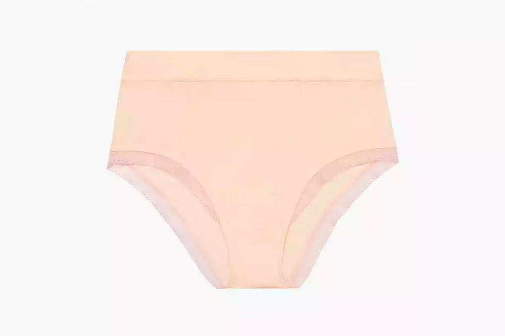 Rihanna Savage X Fenty Lingerie Stretch Microfiber High-Waist Brief Dusty Peach