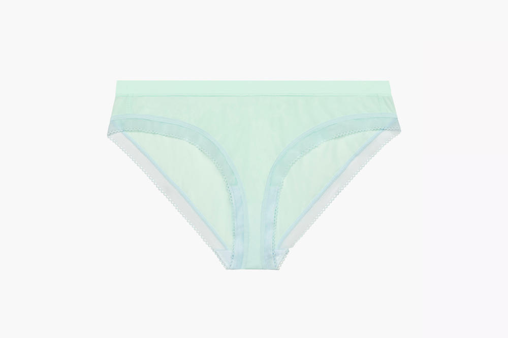 Rihanna Savage X Fenty Lingerie Mid-Rise Stretch Microfiber Bikini Bay Green