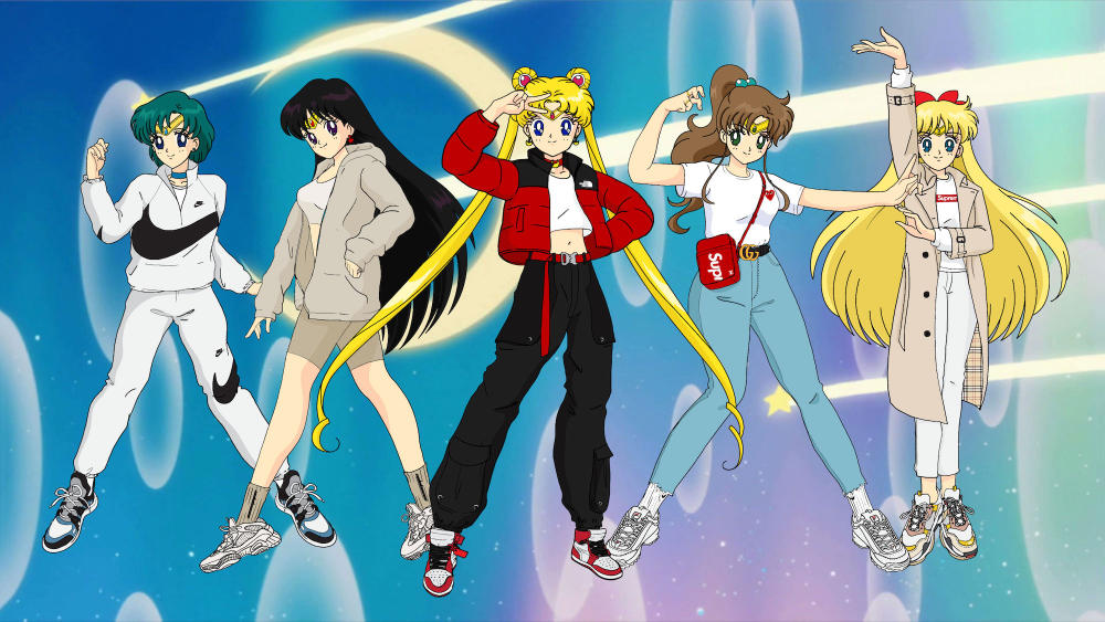 Sailor Moon Character Streetwear Illustrations Louis Vuitton Sneaker Balenciaga Nike Drawings Gucci YEEZY