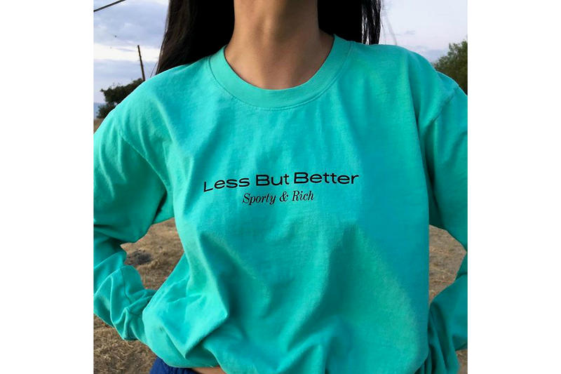 Sporty and Rich Less But Better Shirt Teal Emily Oberg
