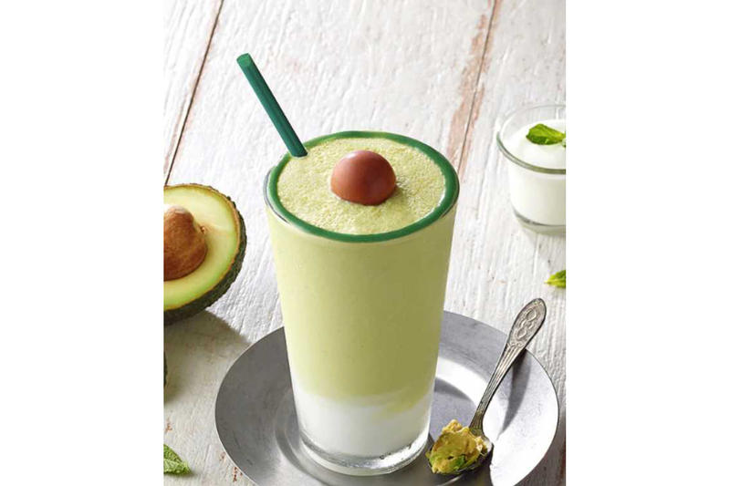Starbucks Japan Korea Avocado Blended Frappuccino
