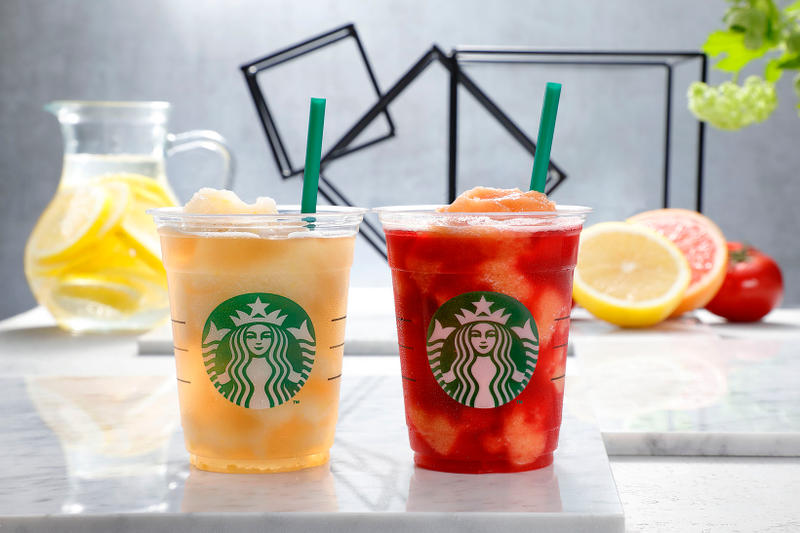 Starbucks Japan Frozen Tea Grapefruit Tomato Herbal Lemonade