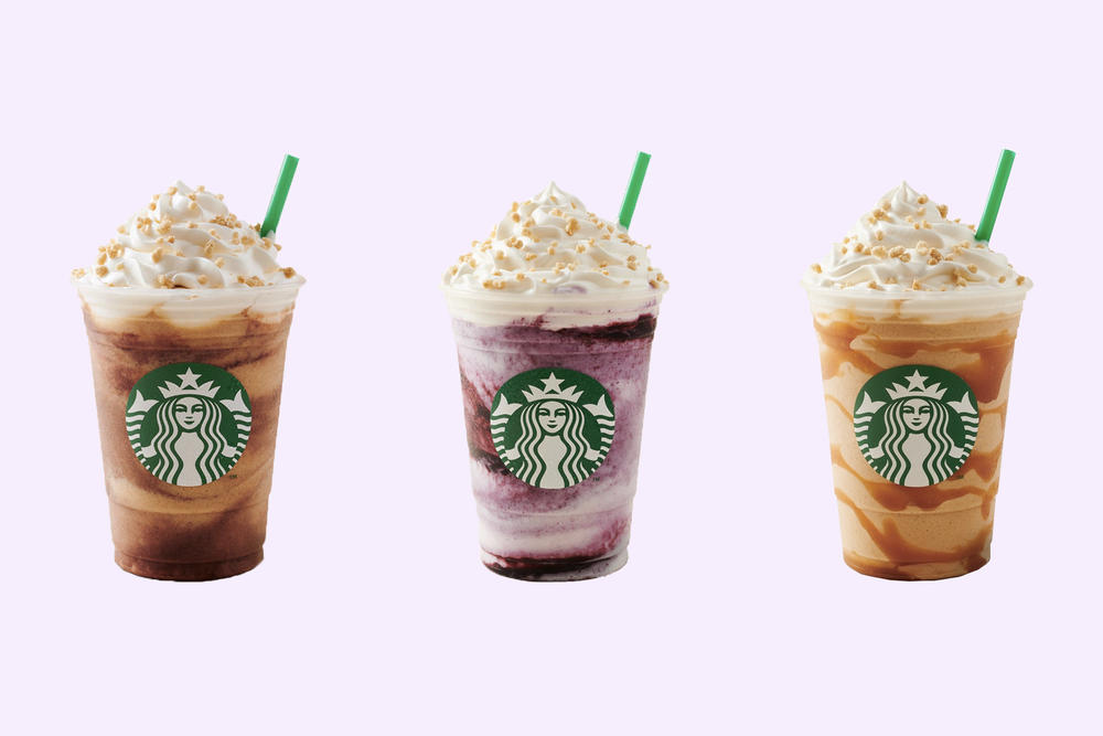 Starbucks Blueberry Caramel Mocha Creme Cheesecake Frappuccino