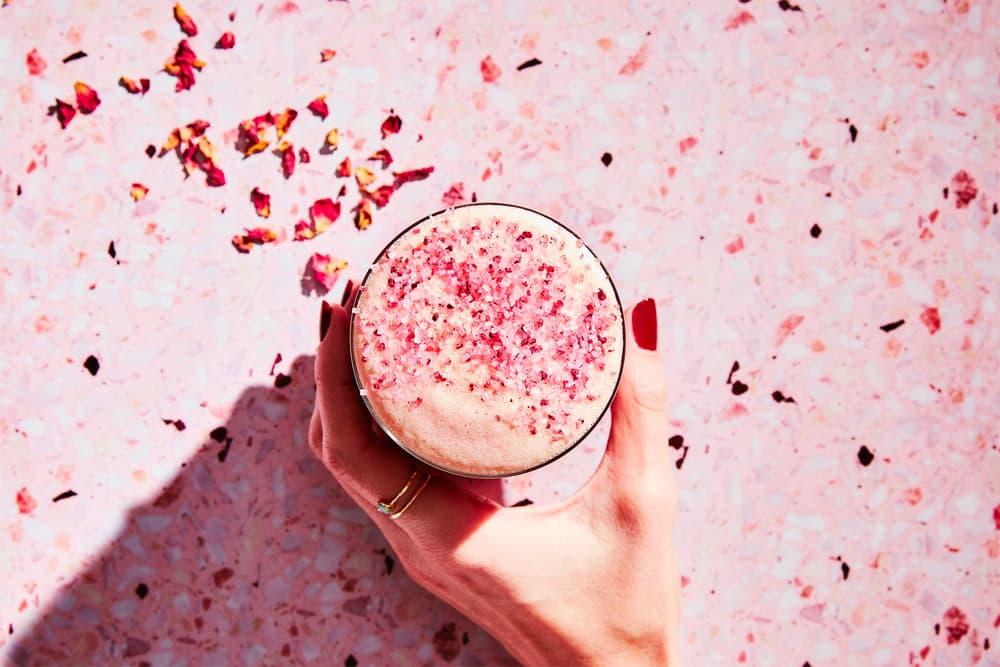 Starbucks Canada Iced Blossoming Rose Tea Latte Matcha Rooibos Black Tea