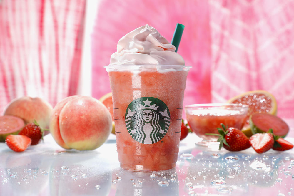 Starbucks Japan Peach Pink Fruit Frappuccino