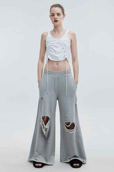T by Alexander Wang Pre-Fall 2018 Collection High Waist Tank White