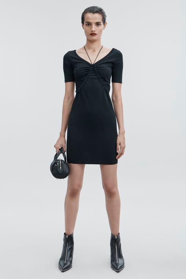 T by Alexander Wang Pre-Fall 2018 Short Sleeve Dress Black