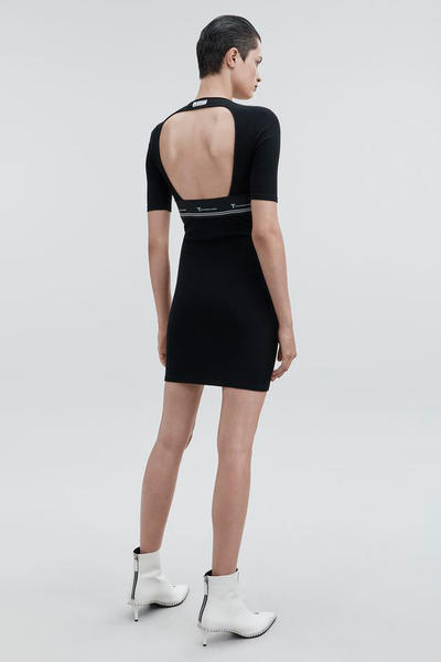 T by Alexander Wang Pre-Fall 2018 Collection Cut Out Dress Black