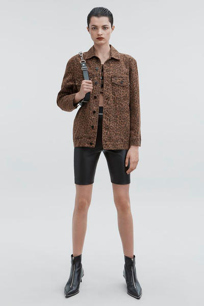 T by Alexander Wang Pre-Fall 2018 Collection Leather Biker Shorts Black