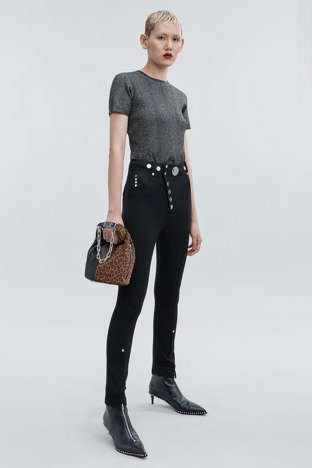 T by Alexander Wang Pre-Fall 2018 Collection Lurex Crewneck Black