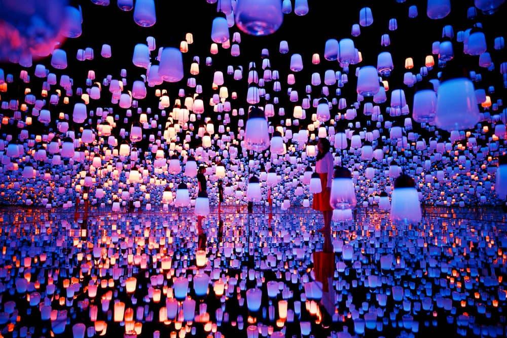 teamLab Borderless Digital Art Museum Installation Tokyo Japan Mirror Lights Lanterns