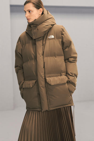 The North Face x HYKE Fall/Winter 2018 Lookbook Outerwear Jackets Puffers Silhouette Streetwear FW 18