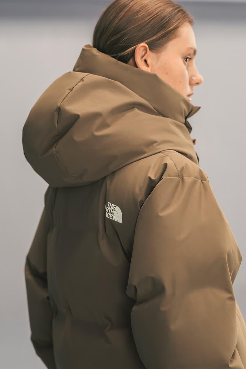 The North Face x HYKE Fall/Winter 2018 Lookbook Outerwear Jackets Puffers Silhouette Streetwear FW 18