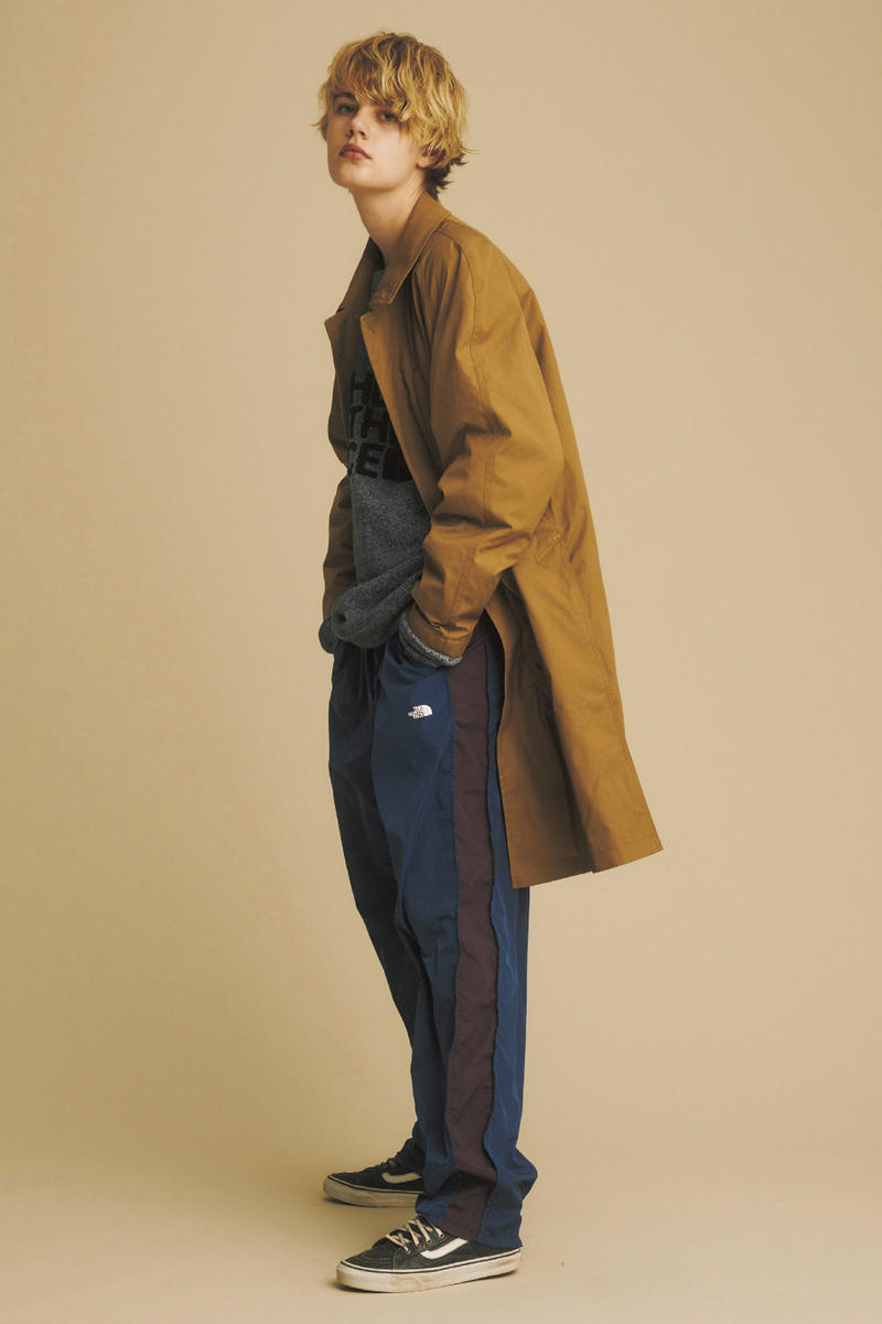 the north face purple label fall winter lookbook nanamica shearling parkas puffer jackets japanese fashion
