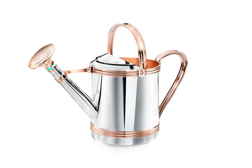 Tiffany & Co. Flora & Fauna Home Accessories Collection Sterling Silver and Copper Watering Can