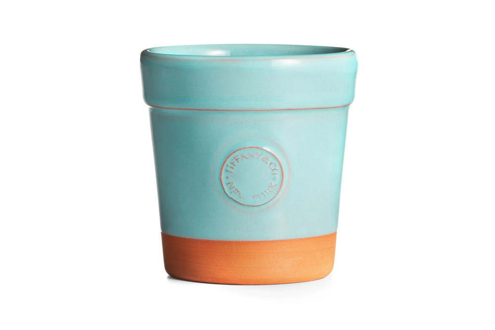 Tiffany & Co. Flora & Fauna Home Accessories Collection Terra-Cotta Flowerpot Blue